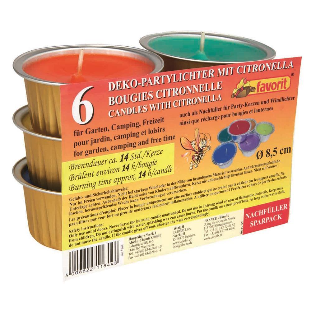 favorit anti m ckenkerzen citronella insektenabwehr duftkerze outdoor teelicht ebay. Black Bedroom Furniture Sets. Home Design Ideas
