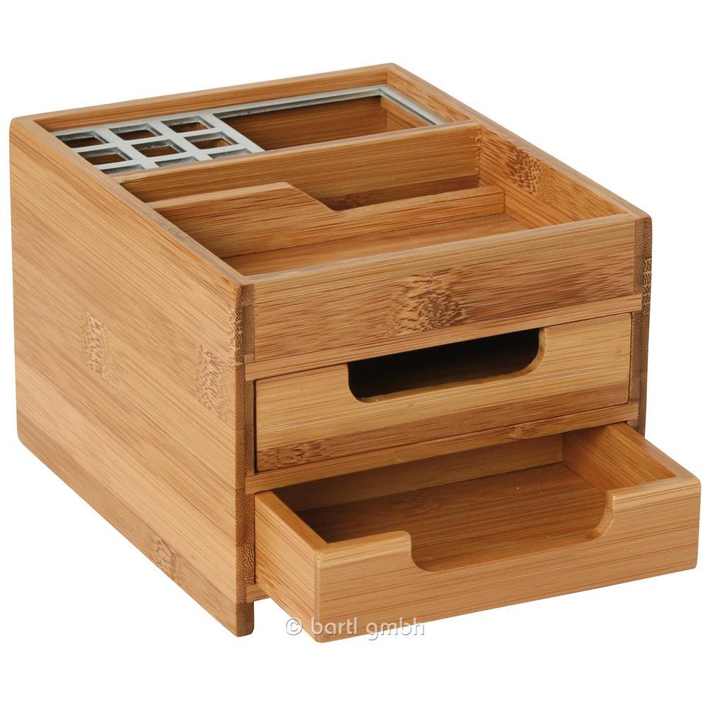 Schreibtischbox m bambus alu dekorativer stifthalter for Exklusive schreibtisch accessoires