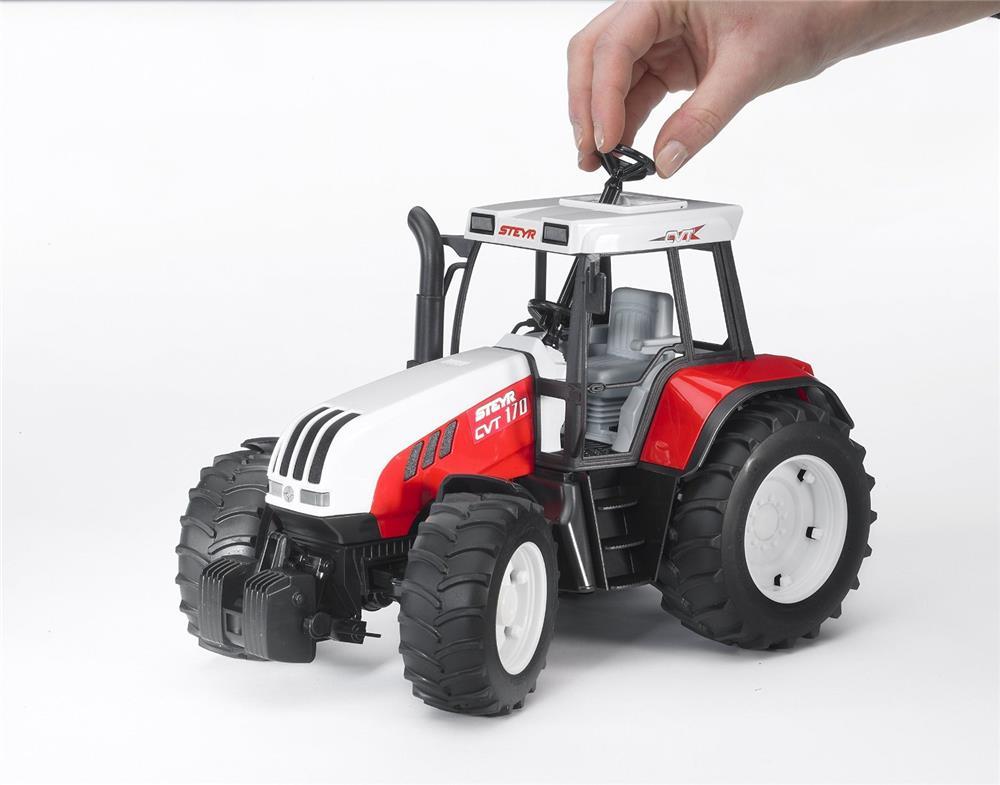 bruder steyr cvt 170 originalgetreuer traktor. Black Bedroom Furniture Sets. Home Design Ideas