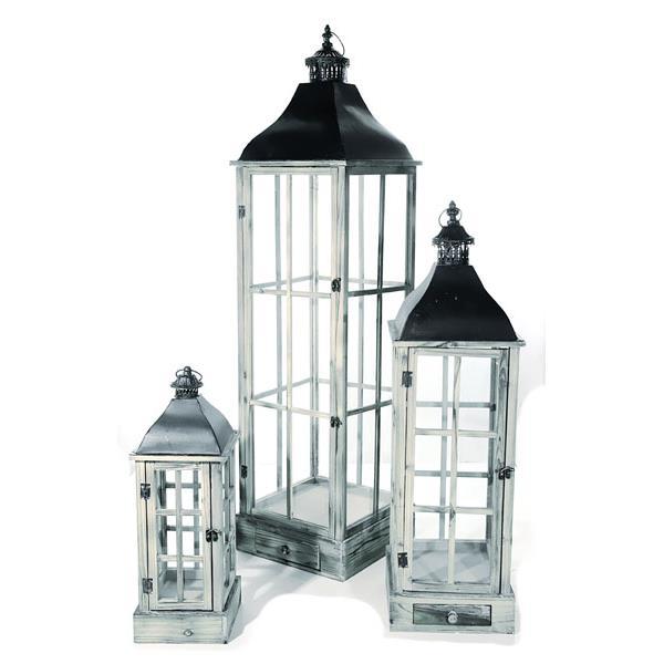 cepewa 27490 laterne klassik 3er set wei kerzenst nder h ngeleuchte ebay. Black Bedroom Furniture Sets. Home Design Ideas