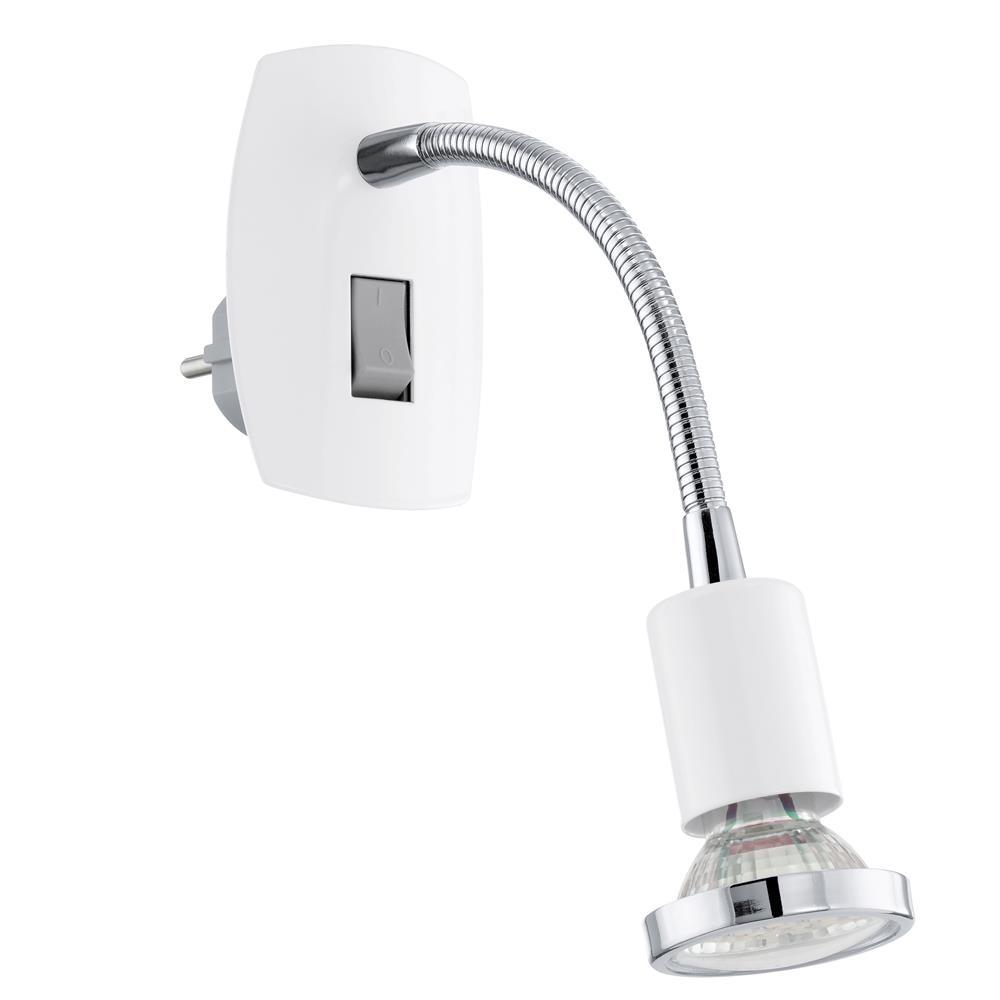 eglo led steckerleuchte steckerlampe steckdosenlampe spot strahler leselampe ebay. Black Bedroom Furniture Sets. Home Design Ideas