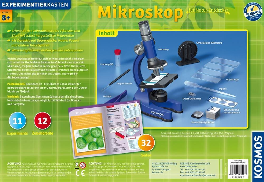 Kosmos mikroskop für natur entdecker spielzeug