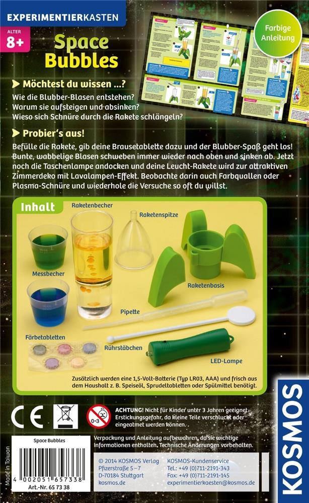 Kosmos 657338 experimentierset space bubbles mit for Led zimmerdeko