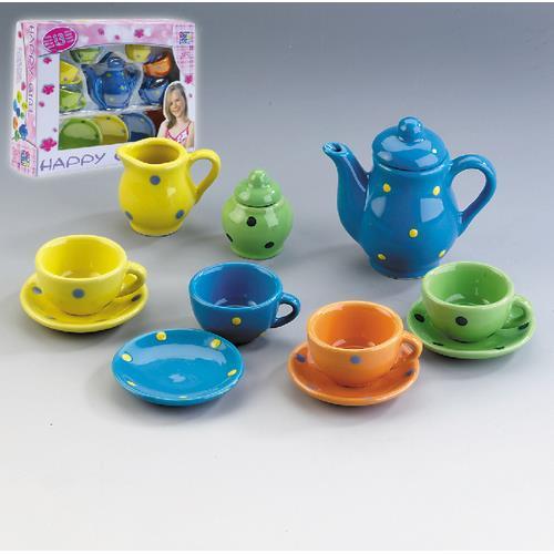 Porzellan Geschirr 13-teilig bunt, Spielzeug, Tee-Geschirr, NEU  eBay