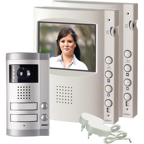 heitronic video t rsprechanlage 2er set gegensprechanlage klingelanlage kamera ebay. Black Bedroom Furniture Sets. Home Design Ideas