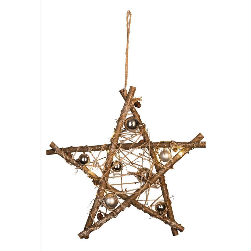 Idena led dekostern advent stern holz dekoration for Holz dekoration