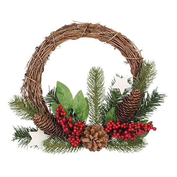 Idena weihnachtskranz t r kranz weihnachten dekoration stern tannenbaum winter ebay - Tannenbaum dekoration ...