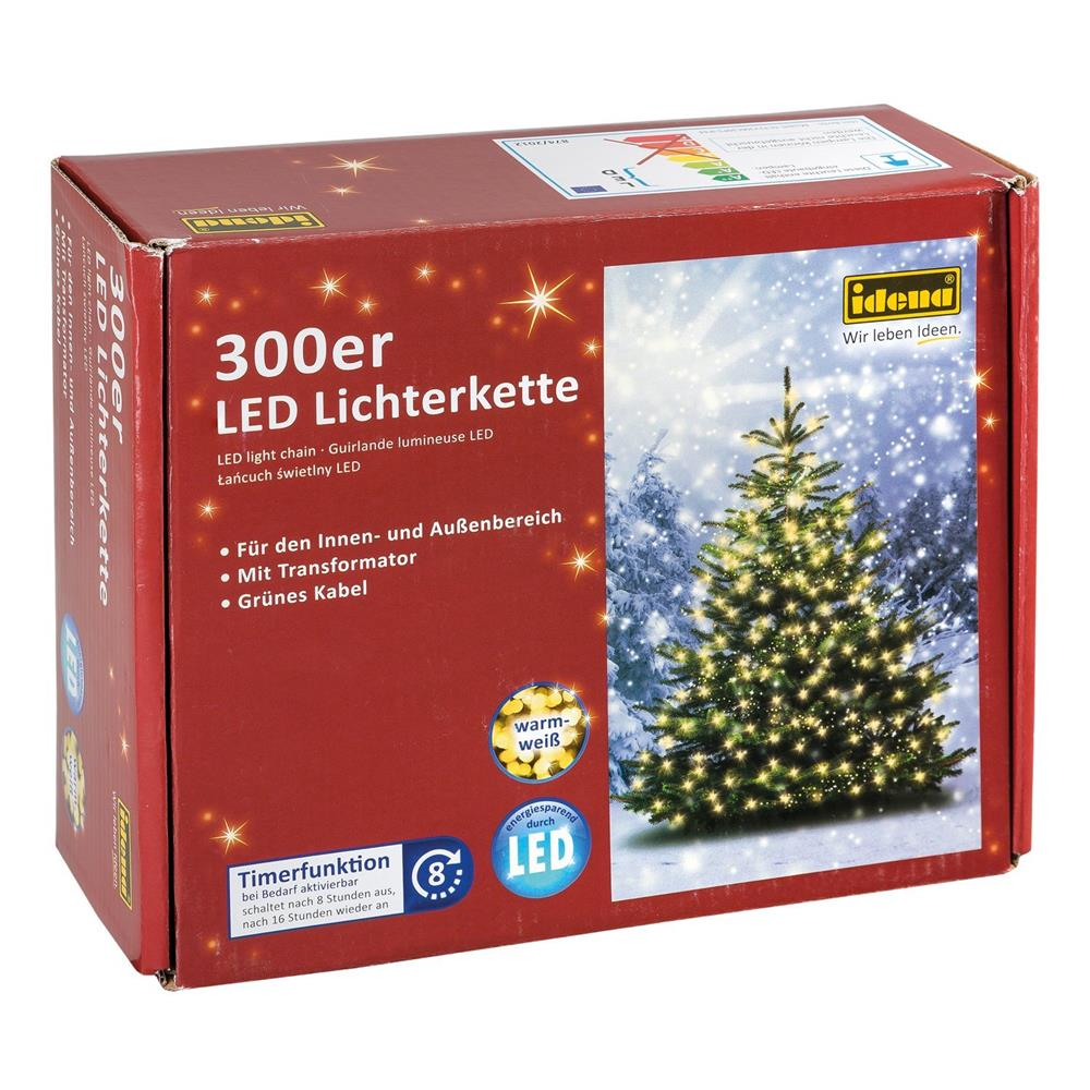idena lichterketten led lichterkette weihnachtslichter baumbeleuchtung timer ebay. Black Bedroom Furniture Sets. Home Design Ideas