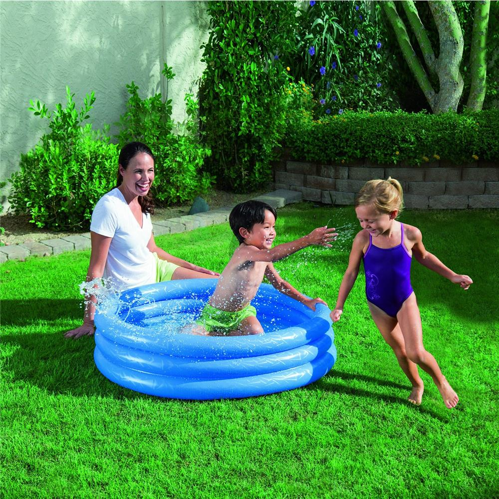 bestway planschbecken kinder pool schwimmbecken swimmingpool 3 ring badespa ebay. Black Bedroom Furniture Sets. Home Design Ideas