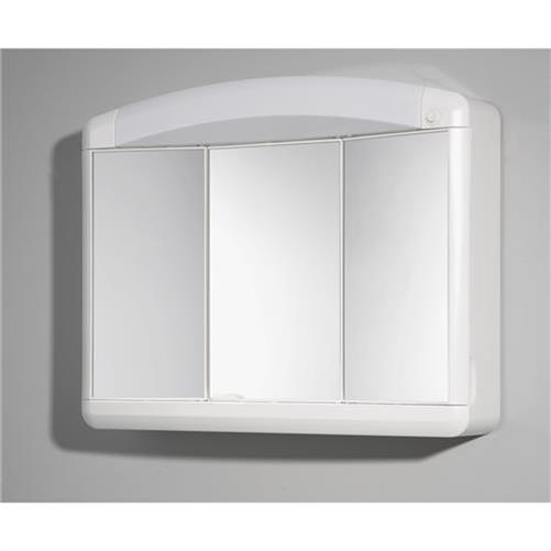 kunststoffspiegelschrank spiegelschrank badschrank h ngeschrank badm bel wei ebay. Black Bedroom Furniture Sets. Home Design Ideas