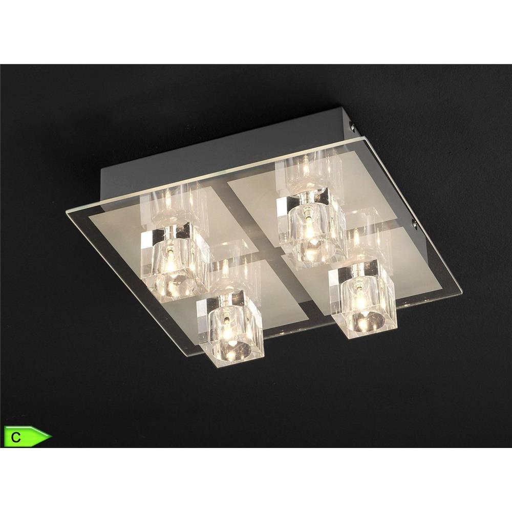 leuchten direkt deckenleuchte silber 4xg4 lampe led fernbedienung farbwechsel ebay. Black Bedroom Furniture Sets. Home Design Ideas