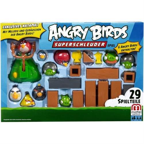 mattel angry birds superschleuder spielzeug kinderspielzeug neu ebay. Black Bedroom Furniture Sets. Home Design Ideas