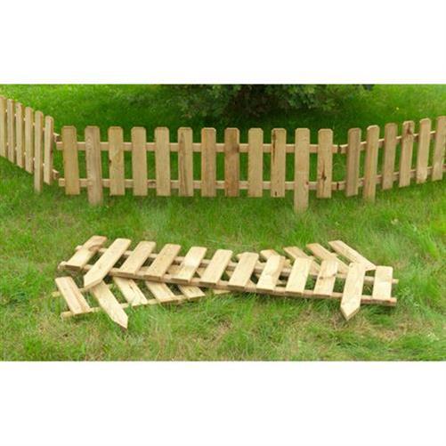 Gartenzaun Holz Kesseldruckimprägniert ~   Beetbegrenzung Holzzaun 120cm Holz Deko Zaun  KESSELDRUCKIMPRÄGNIERT