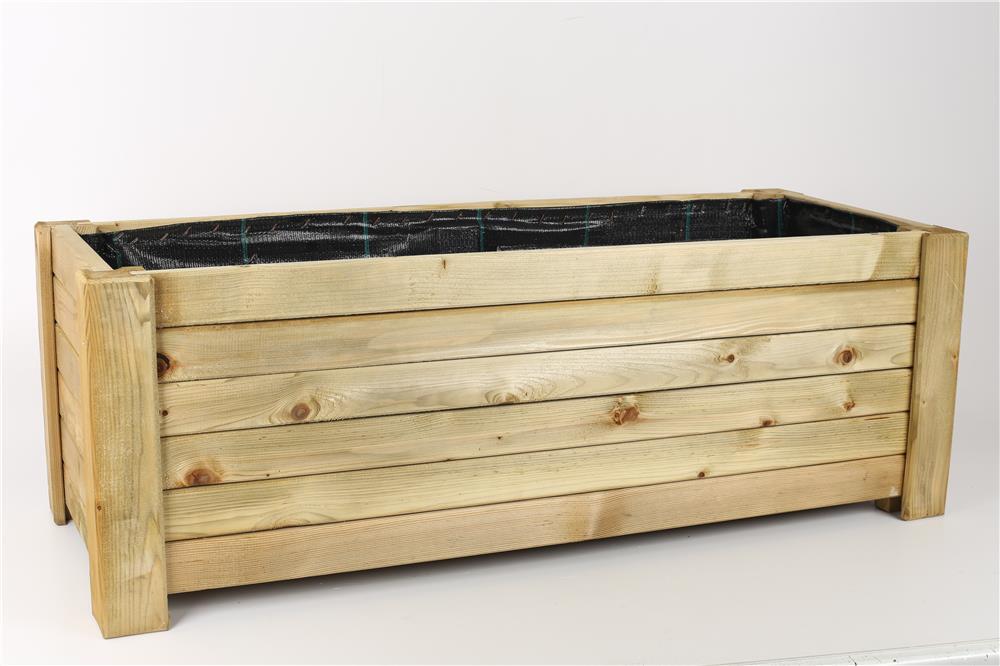 pflanzkasten aus holz verschiedene gr en rechteckig sechseckig blumen k bel ebay. Black Bedroom Furniture Sets. Home Design Ideas