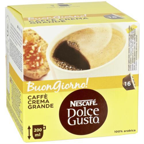 nescafe dolce gusto caffee crema grande 16 kapseln f r kaffee maschine pads. Black Bedroom Furniture Sets. Home Design Ideas