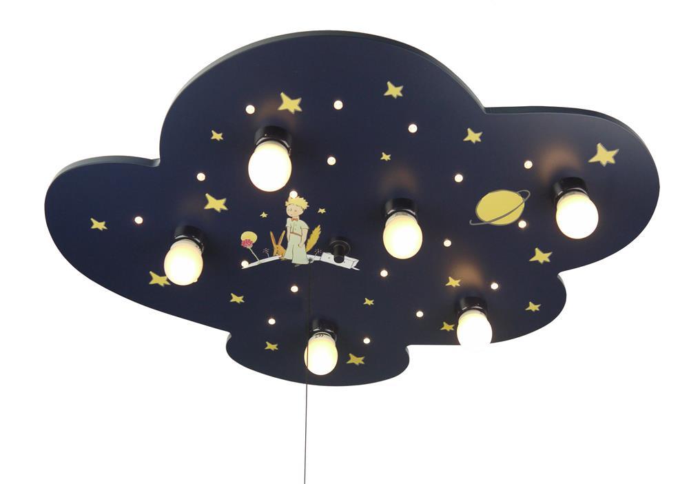 Led Kinderzimmerlampe Deckenleuchte Motiv Sternenhimmel Wolke : Niermann  der kleine Prinz Deckenleuchte Wandleuchte Nachtlicht