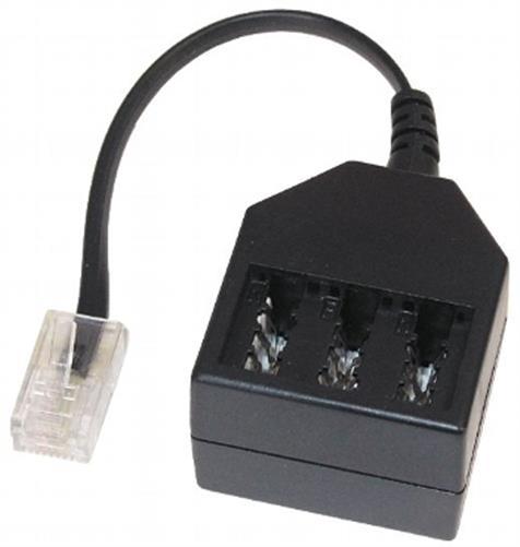 telefon adapter western tae nfn telefon oder faxger t ber die netzwerkdose ebay. Black Bedroom Furniture Sets. Home Design Ideas