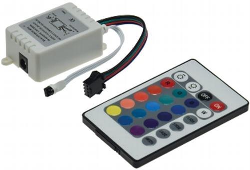 rgb controller f r led b nder 15 vorprogrammierte farben. Black Bedroom Furniture Sets. Home Design Ideas