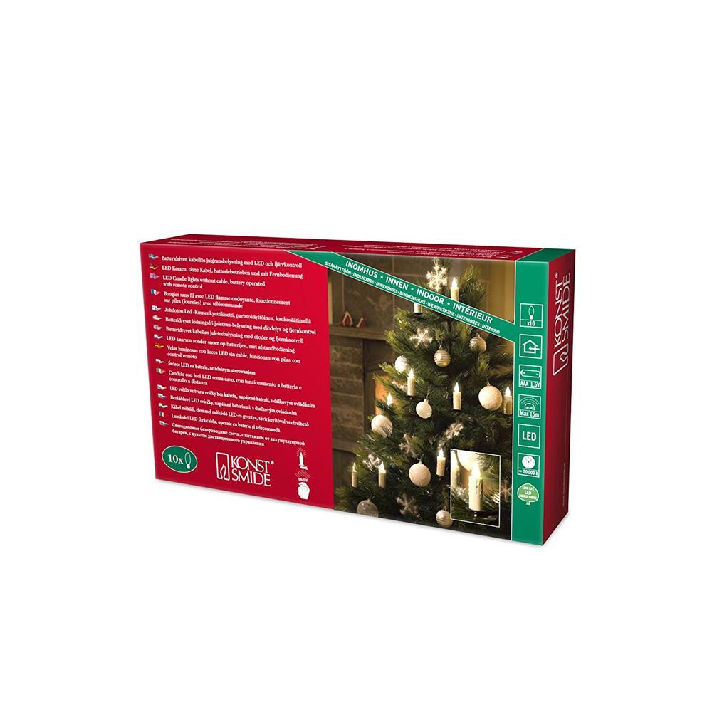 konstsmide 1992 100 kabellose baumbeleuchtung baumkerzen weihnacht einzelkerzen ebay. Black Bedroom Furniture Sets. Home Design Ideas