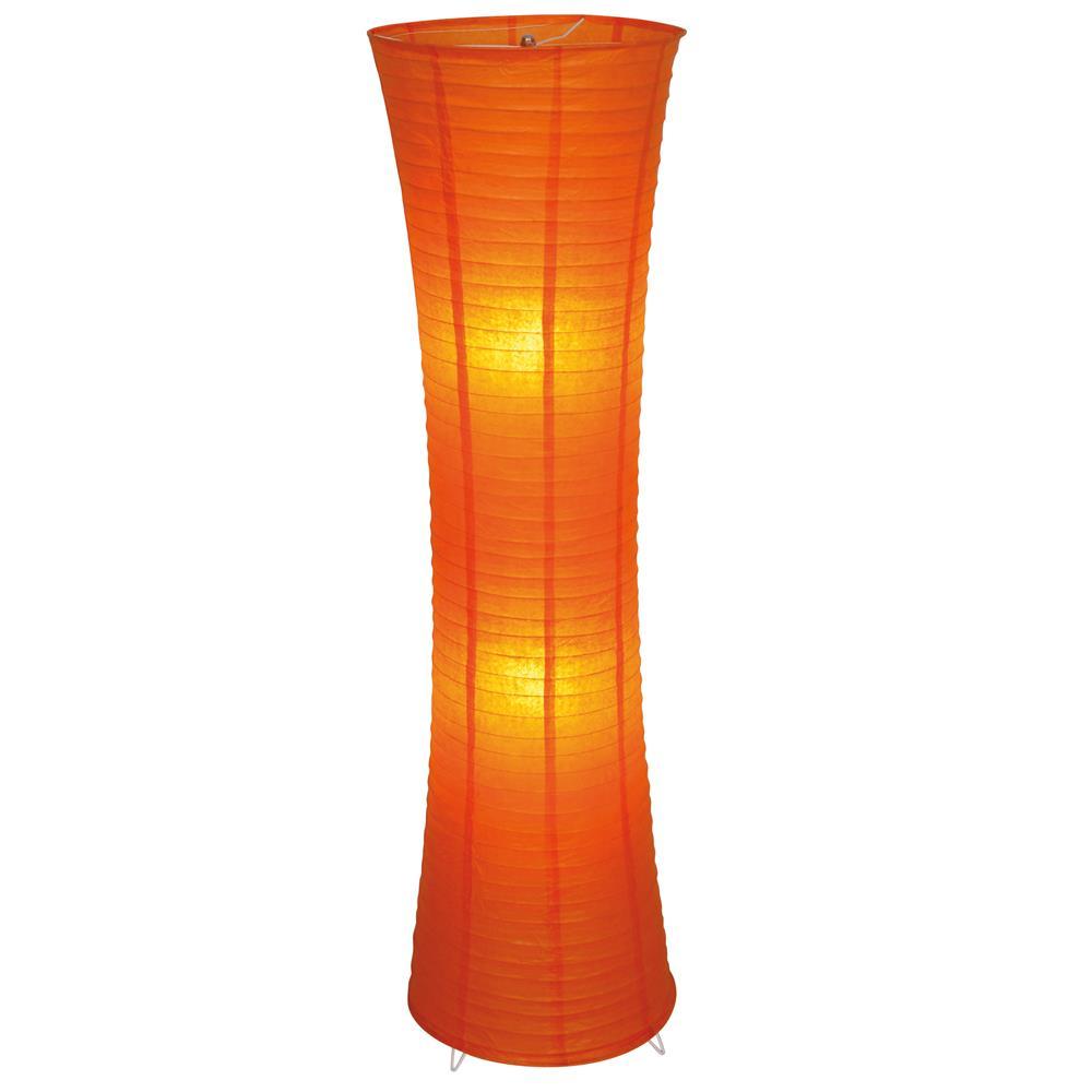 reispapier stehlampe 2flg orange 1260x300 mm e27 40 w mit. Black Bedroom Furniture Sets. Home Design Ideas