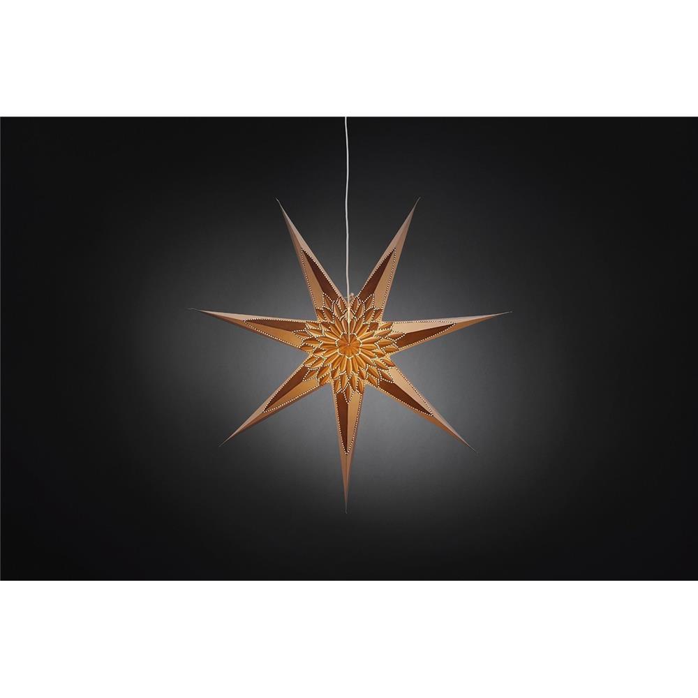 konstsmide papierstern leuchte 7 zacken weihnachten. Black Bedroom Furniture Sets. Home Design Ideas