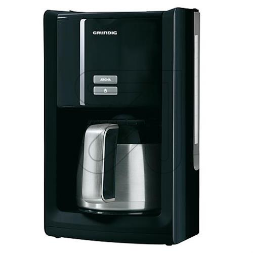 kaffeeautomat grundig km 8280 kaffeemaschine schwarz mit thermoskanne 1 5l ebay. Black Bedroom Furniture Sets. Home Design Ideas