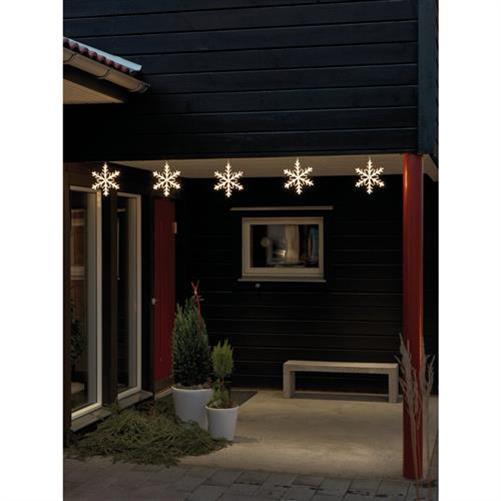 led schneeflocken kette 4439 103 60 warmwei e le beleuchtung licht lampe strahle ebay. Black Bedroom Furniture Sets. Home Design Ideas