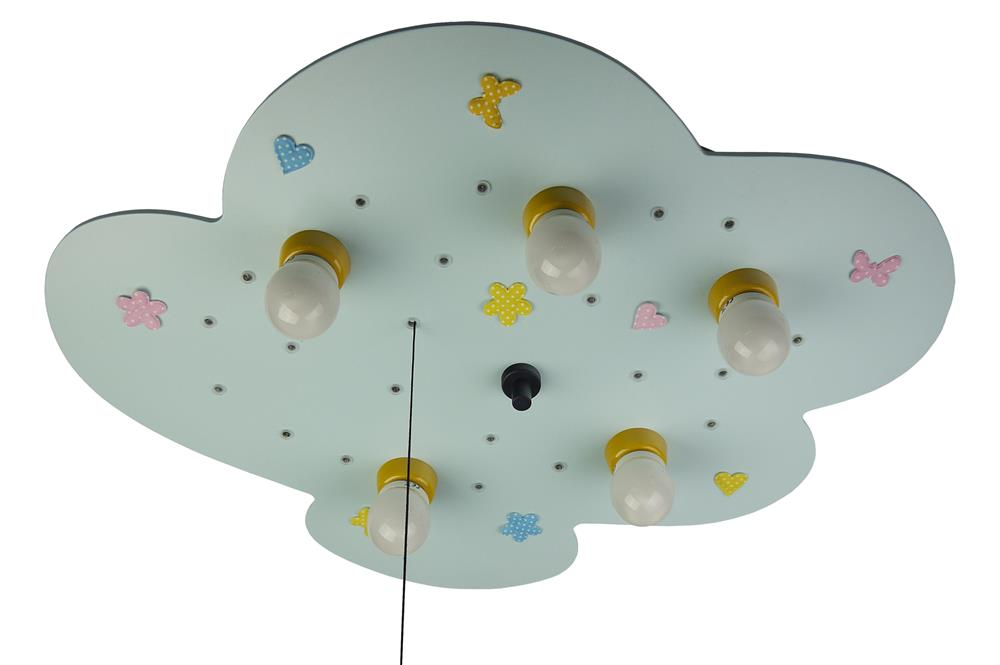deckenleuchte 5flg babyline 761 decken leuchte lampe licht wolke kinder e14 ebay. Black Bedroom Furniture Sets. Home Design Ideas