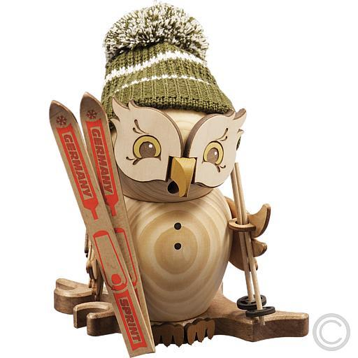Kuhnert Raeuchereule Raeuchermaennchen Orig Erzgebirge Weihnachtsdeko Eule  Holz