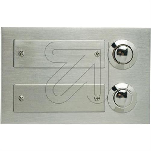 edelstahlplatte unterputz kontaktplatte edelstahl klingeltaster namensschild ebay. Black Bedroom Furniture Sets. Home Design Ideas