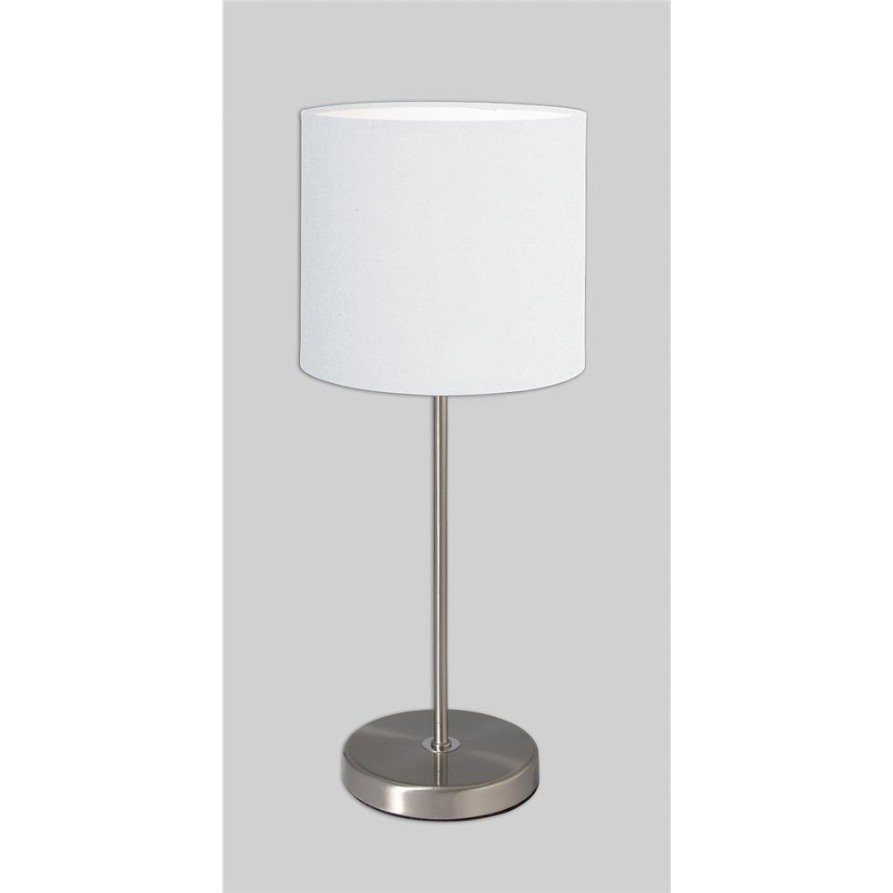 n ve 3112023 tischleuchte tischlampe nachttischlampe dekoleuchte wei chrom ebay. Black Bedroom Furniture Sets. Home Design Ideas