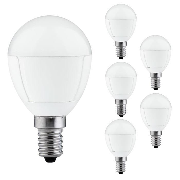 paulmann led leuchtmittel 6 er pack versch typen e14 27 warmwei retrofit ebay. Black Bedroom Furniture Sets. Home Design Ideas