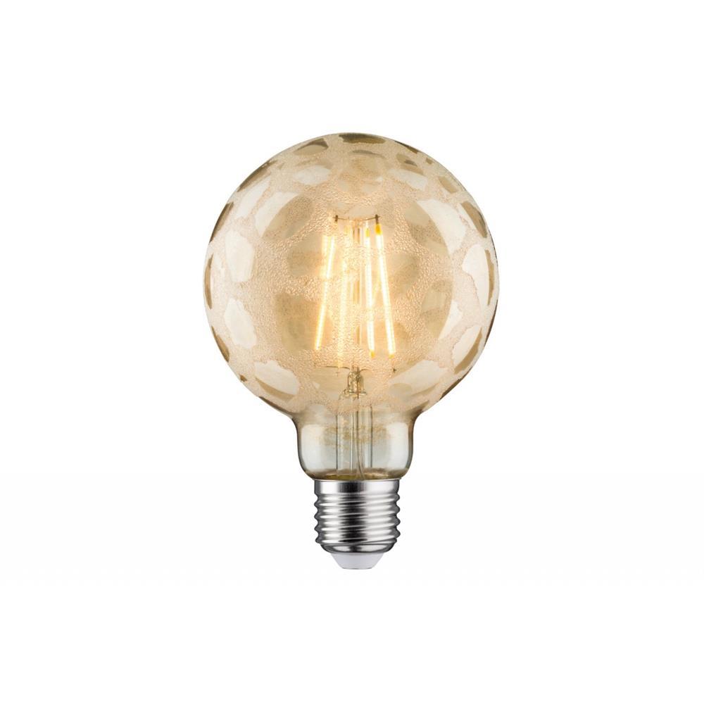 paulmann led globe 95 6w e27 krokoeis gold 2500k dimmbar leuchtmittel gl hlampe ebay. Black Bedroom Furniture Sets. Home Design Ideas