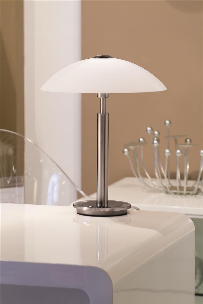 paul neuhaus tischleuchte stahl 1xg9 33w tisch leuchte lampe enova eisen 38cm ebay. Black Bedroom Furniture Sets. Home Design Ideas