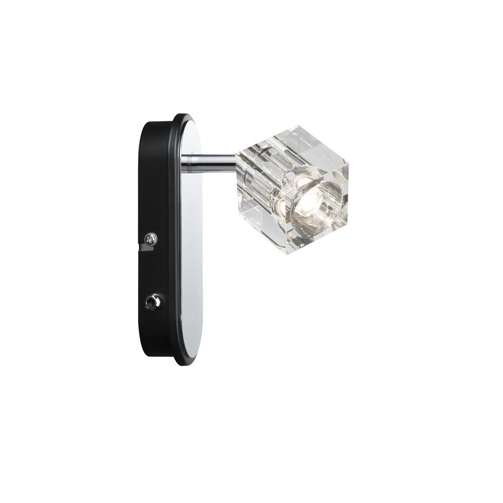 paulmann spotlights icecube led 1x3w 2x3w 3x3w chrom metall strahler spot ebay. Black Bedroom Furniture Sets. Home Design Ideas