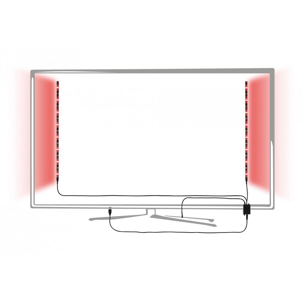 paulmann function usb stripe 2x50cm rgb 2 5w 5v schwarz led kette licht streifen ebay. Black Bedroom Furniture Sets. Home Design Ideas
