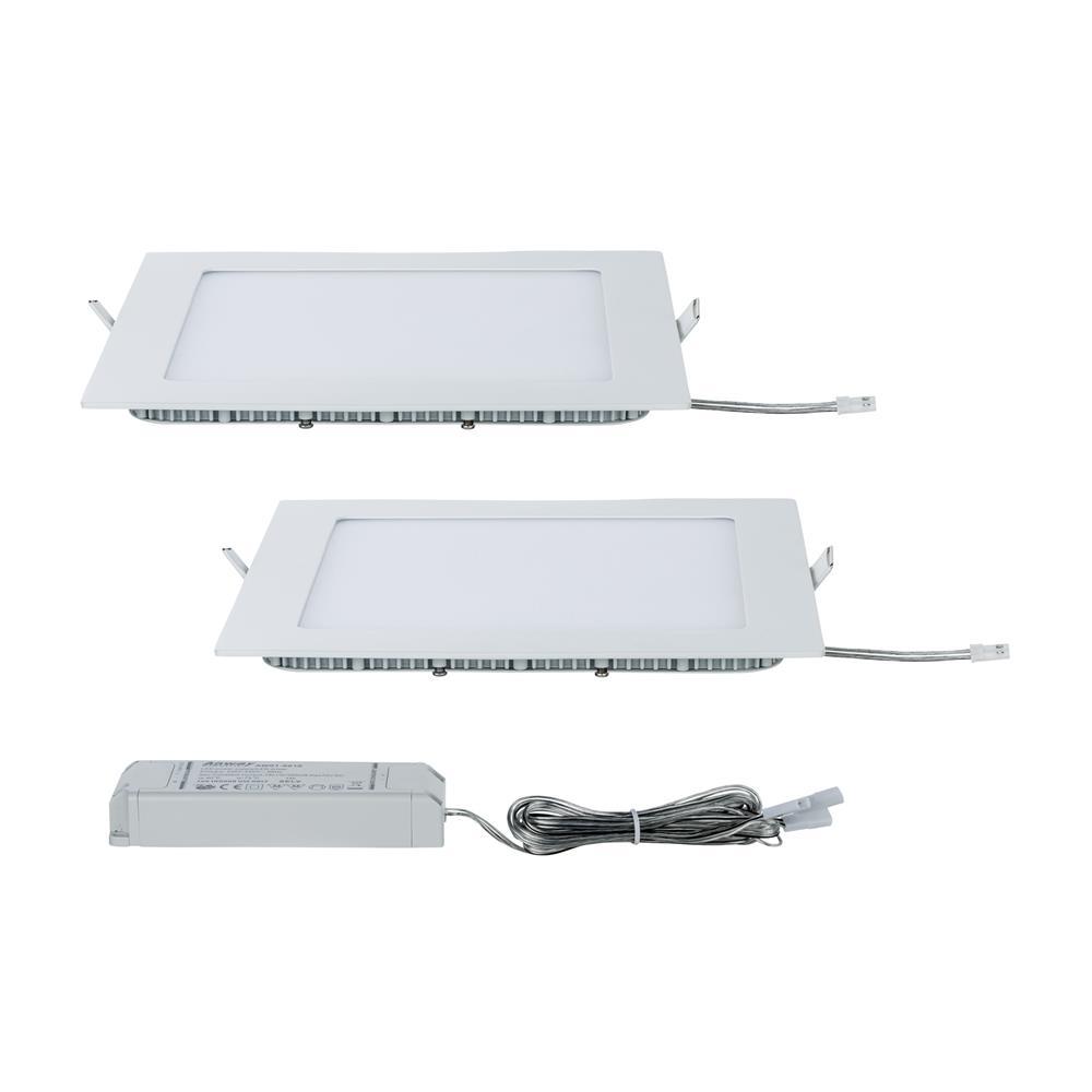 paulmann deckenlampe einbauleuchte led lampe panel set eckig led 2x8 5w 2700k. Black Bedroom Furniture Sets. Home Design Ideas