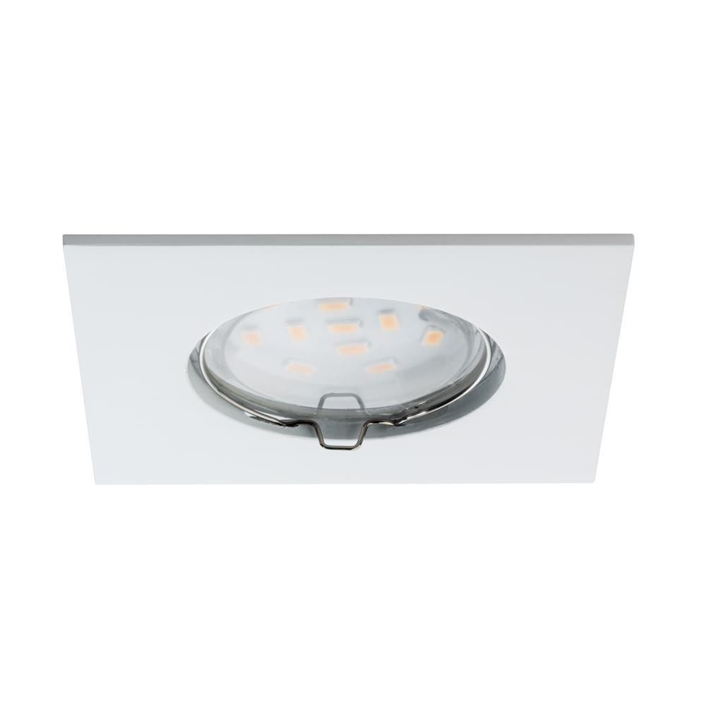 Paulmann deckenlampe einbauleuchte led lampe set coin for Deckenlampe eckig led