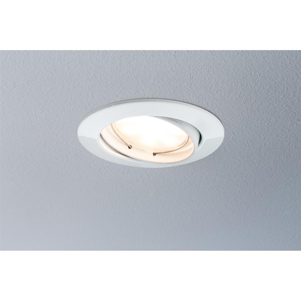 paulmann premium ebl set coin dimmbar led 1x7w einbau leuchte lampe wei 83mm ebay. Black Bedroom Furniture Sets. Home Design Ideas
