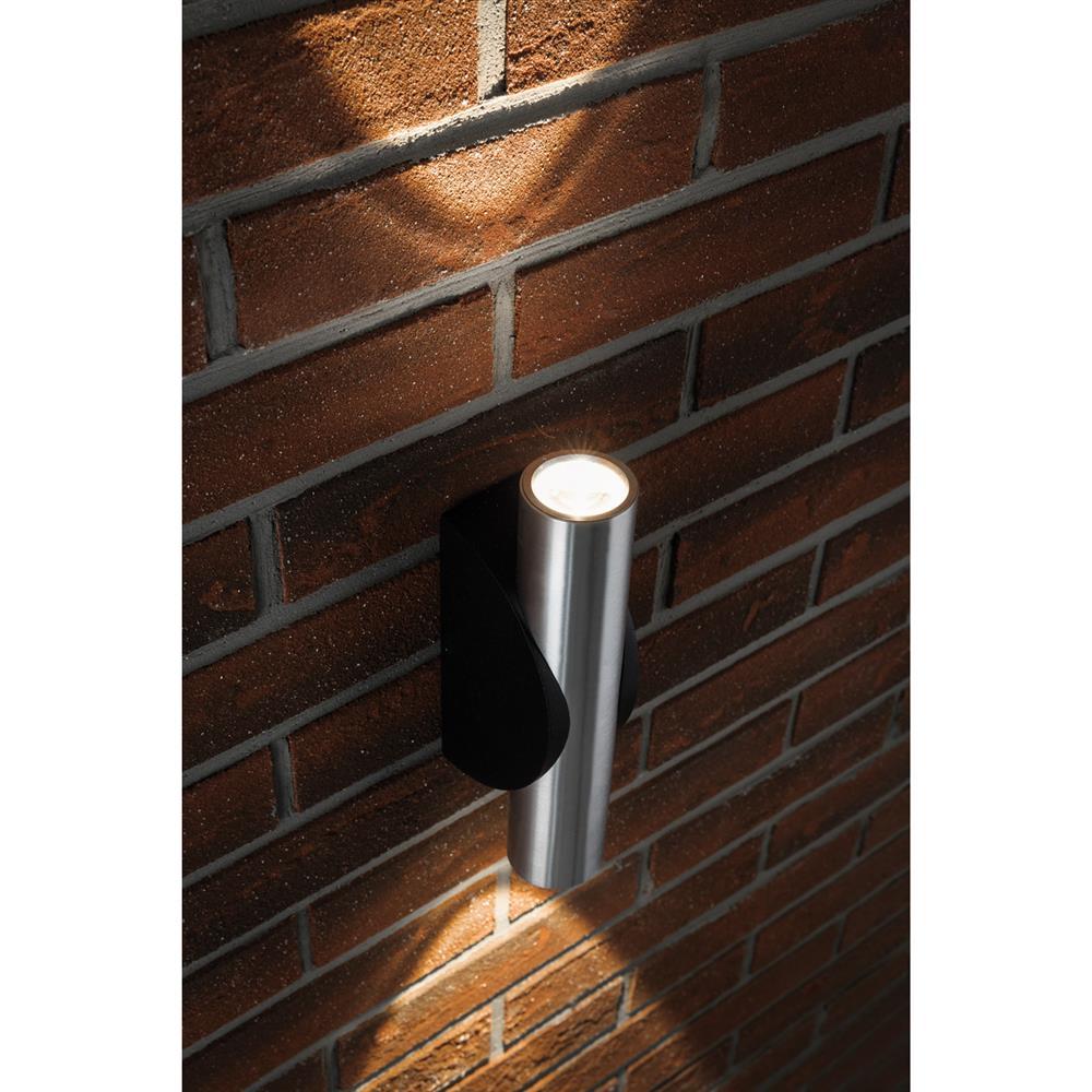 paulmann led wand leuchte alu schwarz up down light lampe ip44 neu ebay. Black Bedroom Furniture Sets. Home Design Ideas