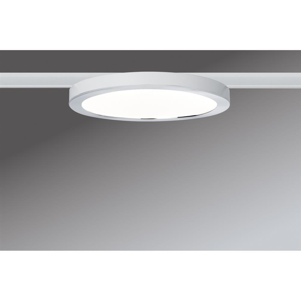 paulmann urail system led panel ring 7w wei chrom decken leuchte lampe wand ebay. Black Bedroom Furniture Sets. Home Design Ideas