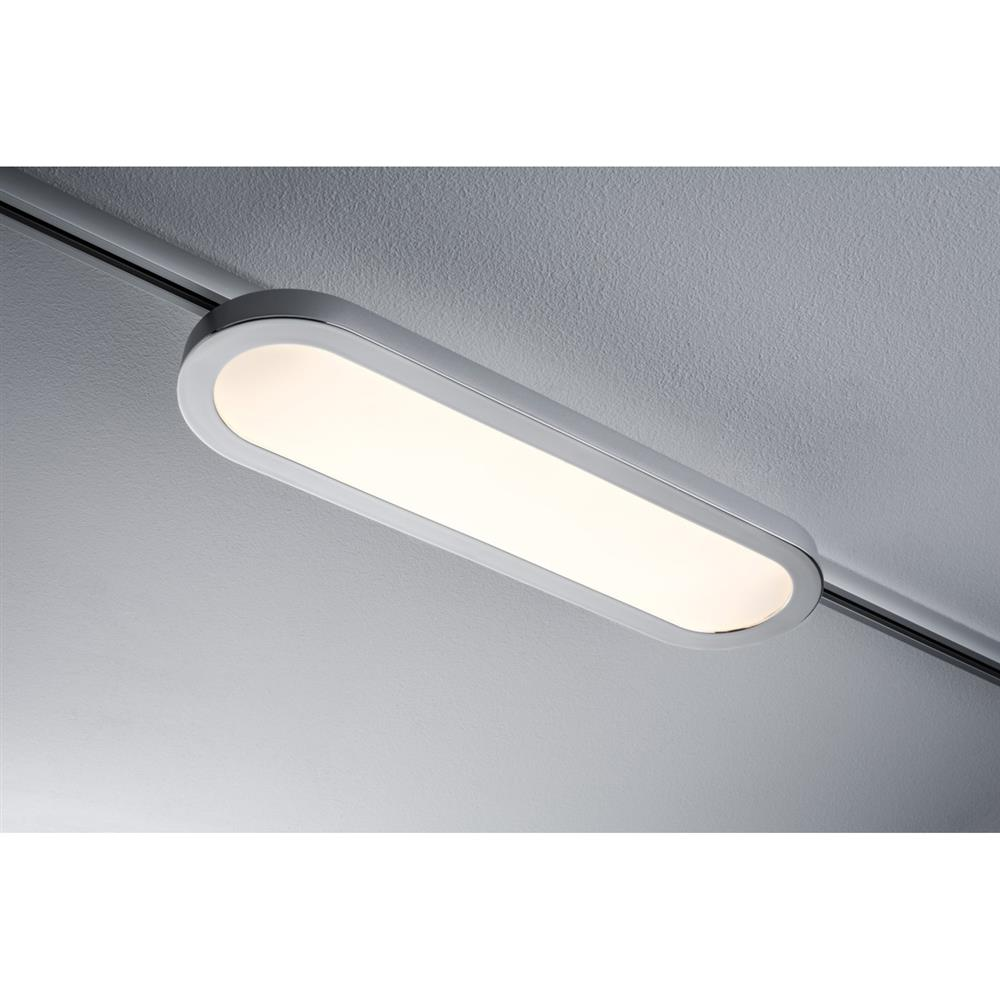 paulmann urail system led panel loop 7w chrom matt decken leuchte lampe wand ebay. Black Bedroom Furniture Sets. Home Design Ideas