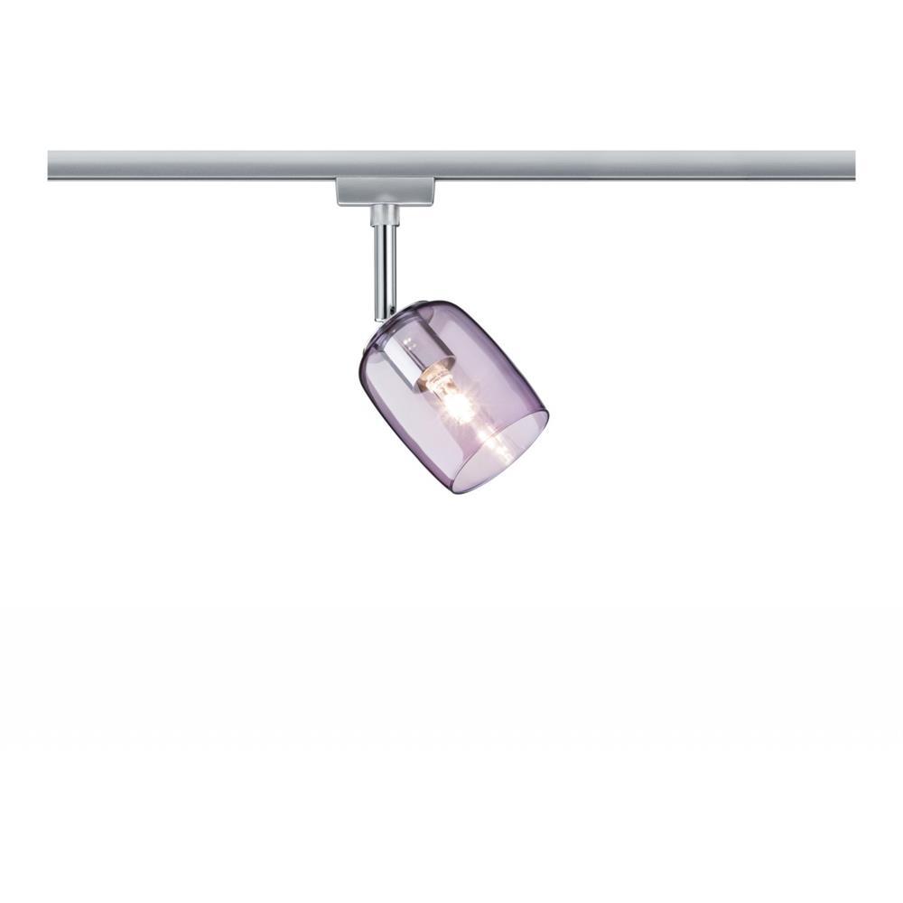 paulmann urail system spot blossom max 1x25w g9 chrom decken leuchte lampe lila. Black Bedroom Furniture Sets. Home Design Ideas