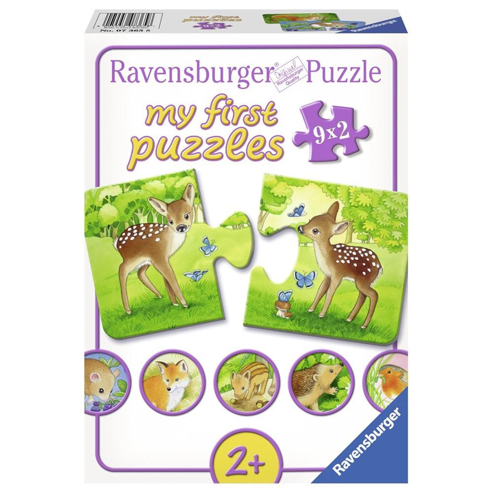 ravensburger puzzle 07365 s e waldbewohner 10x18 cm ab 2 jahren neu ebay. Black Bedroom Furniture Sets. Home Design Ideas