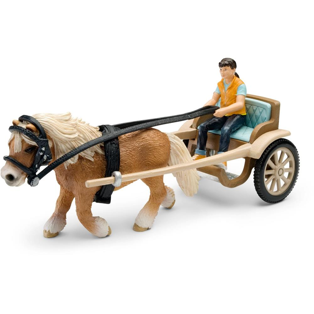 schleich 42040 ponykutsche mit pferd pferdehof reiterhof. Black Bedroom Furniture Sets. Home Design Ideas