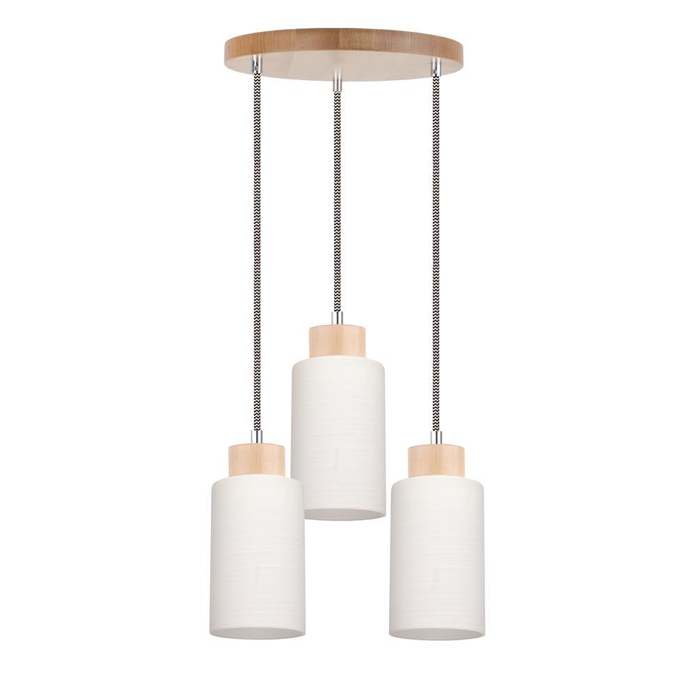 spot light bosco schwarz wei pendelleuchte h ngelampe holz design lampe leuchte ebay. Black Bedroom Furniture Sets. Home Design Ideas