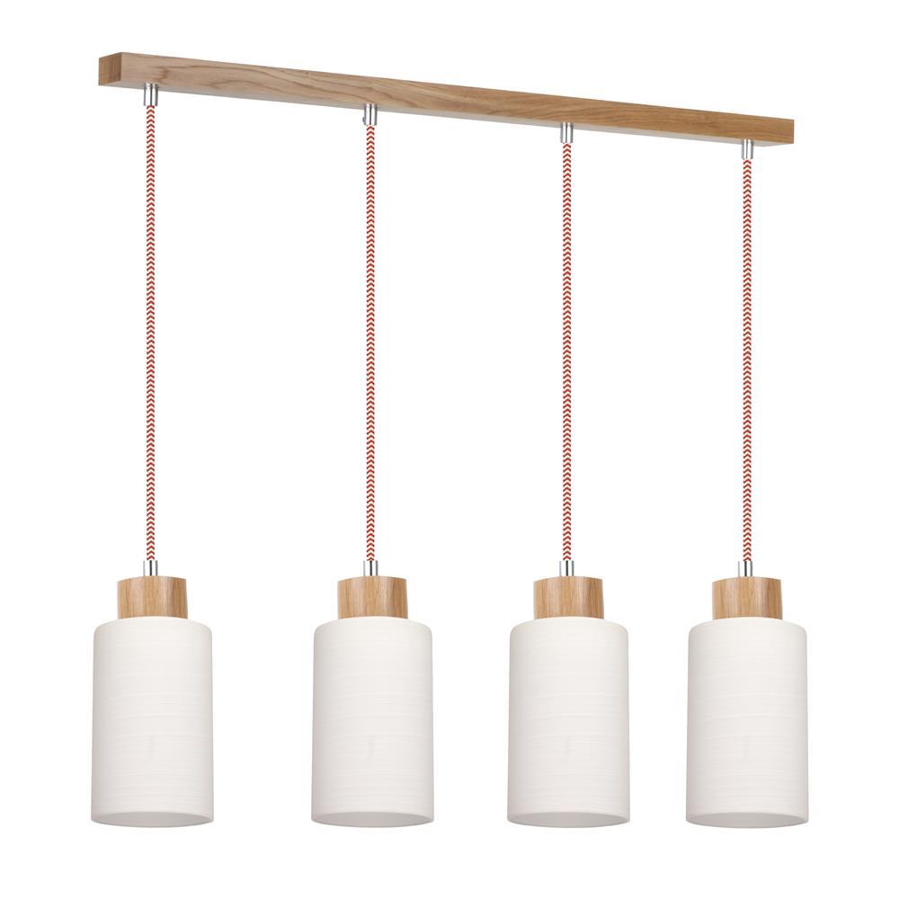 spot light bosco rot wei pendelleuchte h ngelampe holz. Black Bedroom Furniture Sets. Home Design Ideas