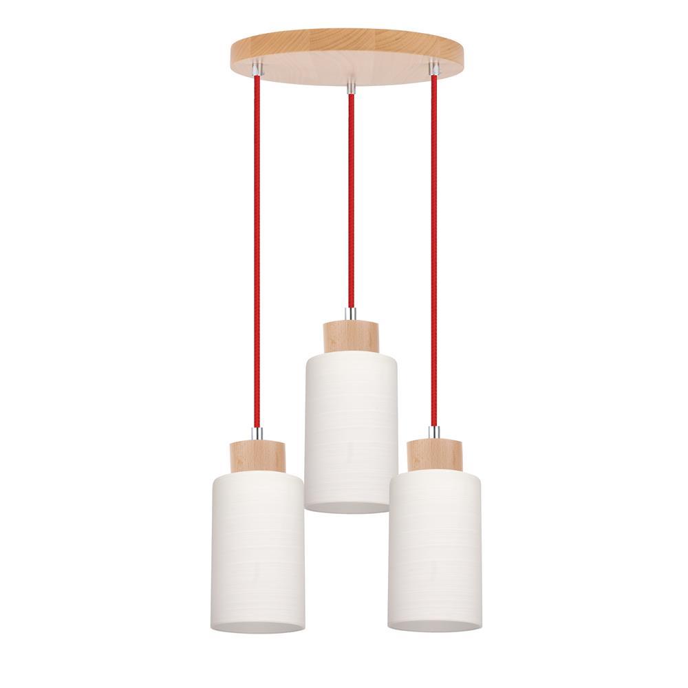 spot light bosco rot design lampe leuchte holz metall glas e27 pendel ebay. Black Bedroom Furniture Sets. Home Design Ideas