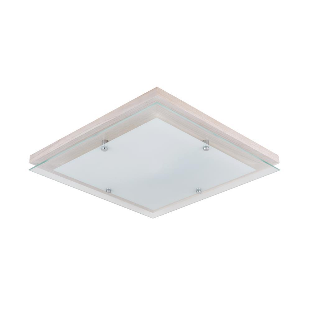 spotlight finn led deckenleuchte deckenlampe dimmbar holz eiche birke eckig ebay. Black Bedroom Furniture Sets. Home Design Ideas