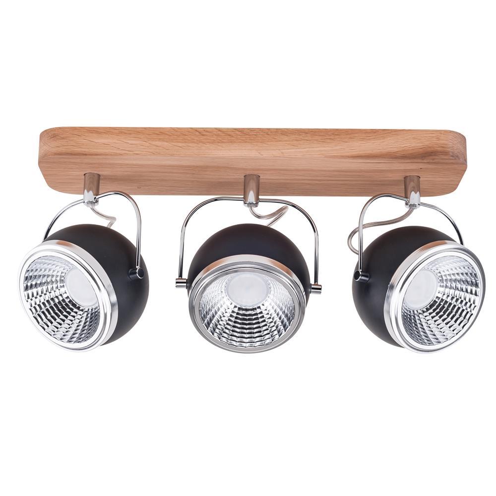 spot light ball wood holz spot strahler deckenstrahler lampe leuchte retro neu ebay. Black Bedroom Furniture Sets. Home Design Ideas